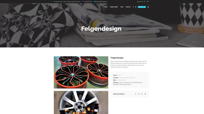 Limitless Design Website Projektdetails