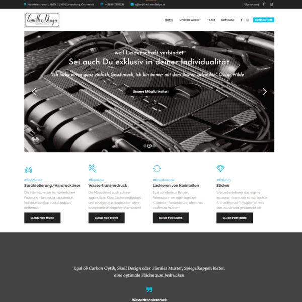 Limitless Design Website Startseite